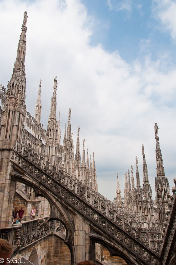 Terraza catedral de Milán