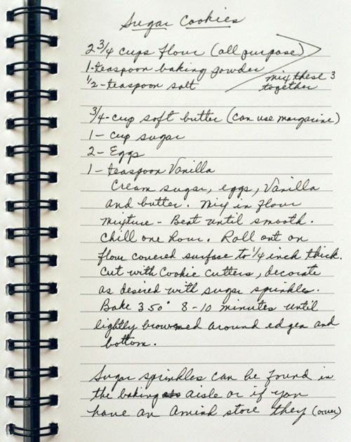 old sugar cookie recipe ~ I have made these they are very good. Not my family recipe.