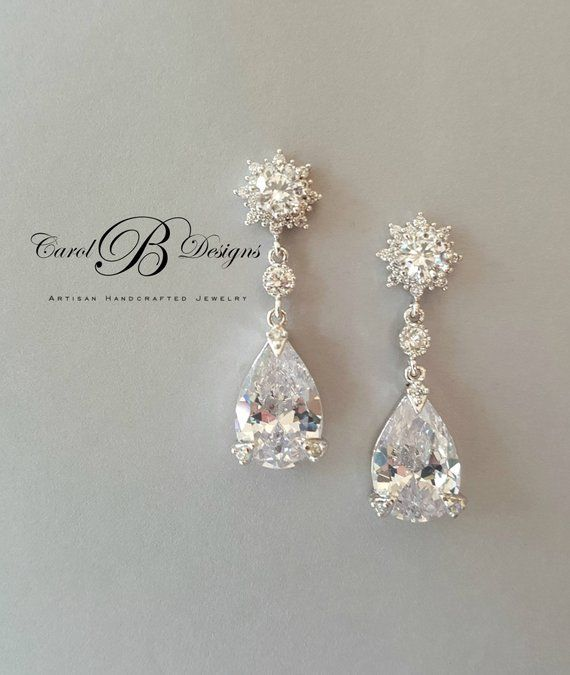 Crystal Bridal Earrings Wedding Jewelry For Brides Mother Of The Bride Gift Daughter In Law Groom From