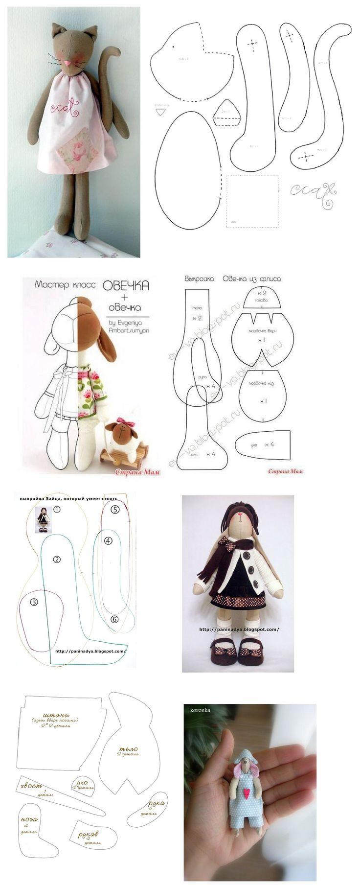 906 best free felt toy patterns tutorials images on pinterest diy toy cat doll free sewing pattern jeuxipadfo Choice Image