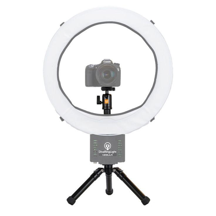 DVeStore - Diva Ring Light Mini Desk Tripod, $54.95 (http://www.dvestore.com/lighting/ring-lighting/diva-ring-light/diva-ring-light-mini-desk-tripod/)