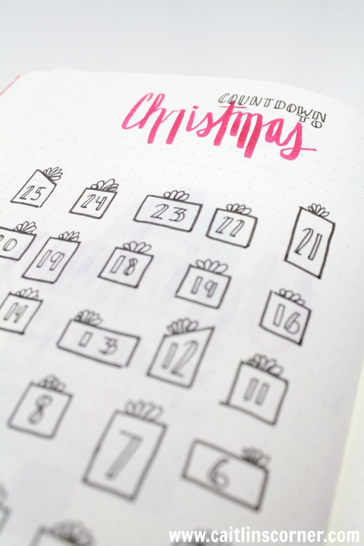 COUNTDOWN TO CHRISTMAS: Bullet Journal Ideas
