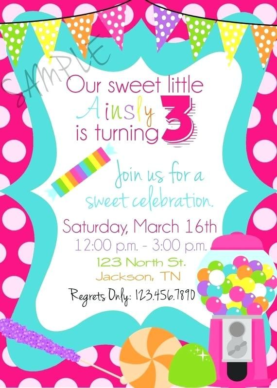 Unique Candyland Party Invitations Or Candy Shop Birthday Party