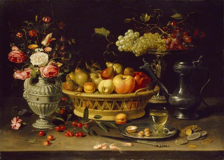 Clara Peeters (Belgian Still Life With Fruit And Flowers, Active 1607    After Oil On Copper