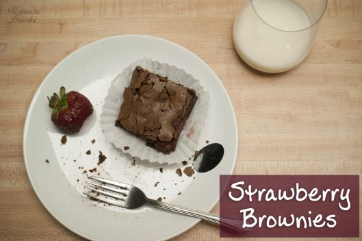 These Strawberry Brownies are incredible. The strawberries and chocolate complement each other so well, and they'd go perfectly with a bowl of vanilla ice cream.