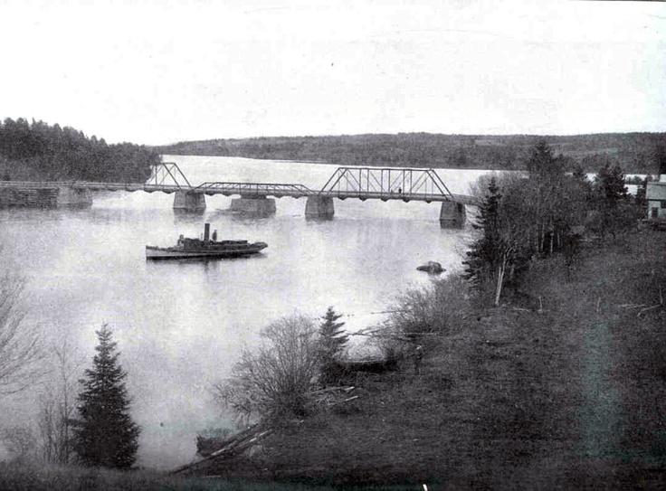 Railway Crossing-The Mira River-Mira River-Cape Breton-1903