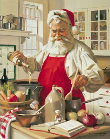 my kind of Santa, one who can cook!