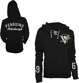 Old Time Hockey Pittsburgh Penguins Women's Queensboro Lace Hooded Sweatshirt - Shop.NHL.com
