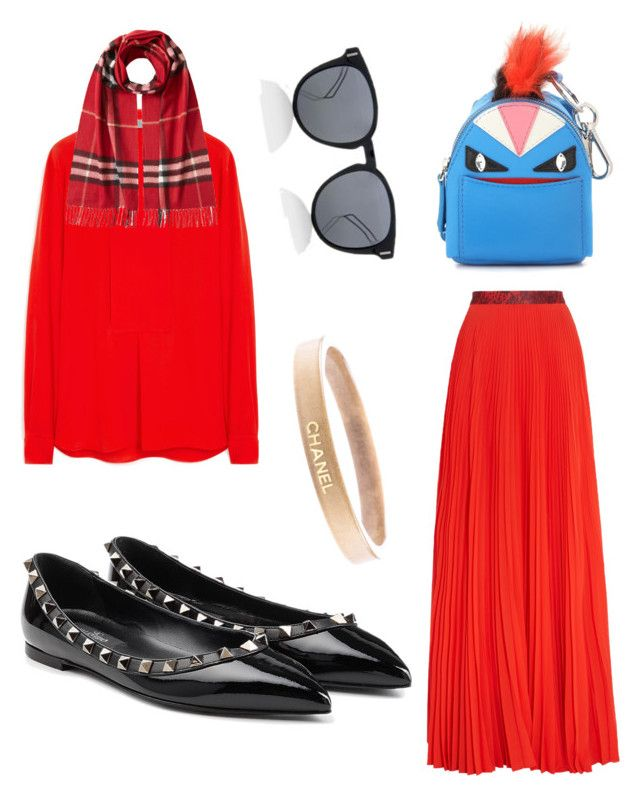 """mood today"" by leelin on Polyvore featuring Christopher Kane, Mulberry, Burberry, Valentino, Fendi, Christian Dior, Chanel, women's clothing, women and female"