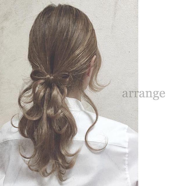 """""""#hair#hairarrange#hairset#arrange#hairstyle#ヘアスタイル#ヘア#ヘアアレンジ#ヘアセット#アレンジ#ヘアー#ヘアアクセサリー#ヘアサロン#編み込み#fashion#ファッション#簡単#くるりんぱ#美容師#オシャレ#おしゃれ#結婚式#バレッタ#プリュイ#ヘアスタイル#instagood#cute#beautiful#girl#follow#髪型"""" Photo taken by @chiakih62 on Instagram, pinned via the InstaPin iOS App! http://www.instapinapp.com (11/08/2015)"""