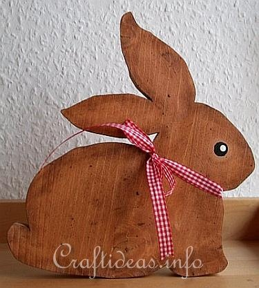 wood crafts - simple bunny
