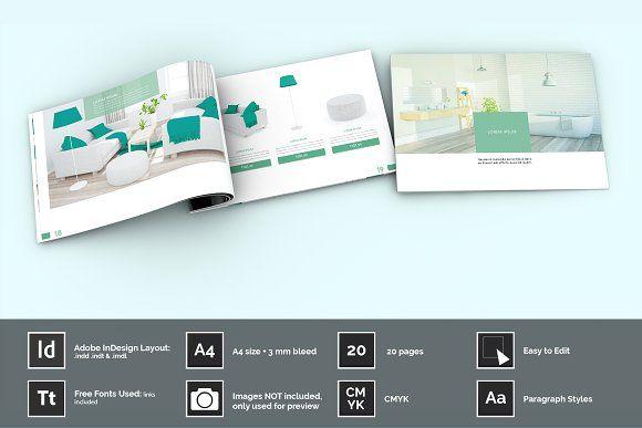 Mint Product Catalog Ebook Layout Indesign Layout Layout