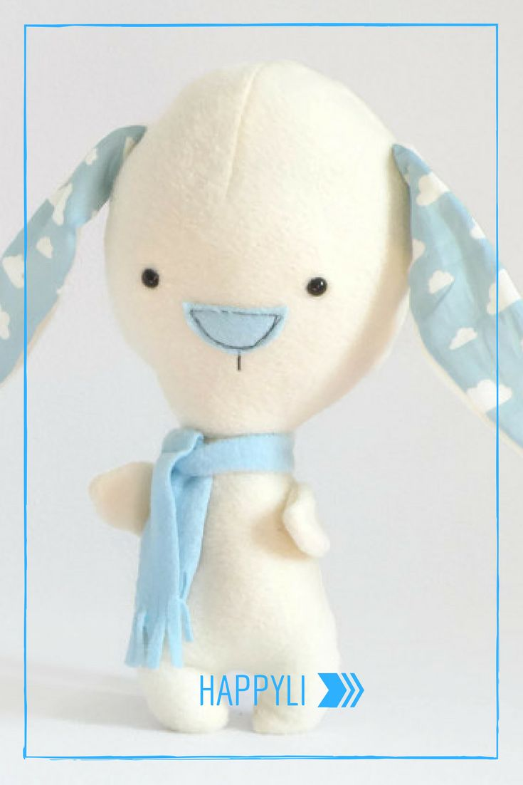 Cute Bunny Plush Toy, Soft Stuffed Animal, Plushy Doll, Bunny, Rabbit Doll, Rabbit Stuffed Animal, Cute Toy, Gift for Boys, Gift for Girls #happyli #giftforkids #handmade #plushies #forkids #etsyshop