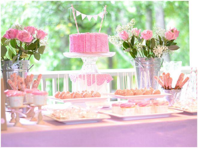 Ruffles Roses Girls Birthday Party Ideas
