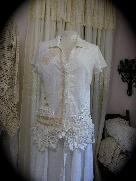 Romantic White Blouse 74