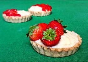 Mňaminka: Vanilkové tartelky s jahodami