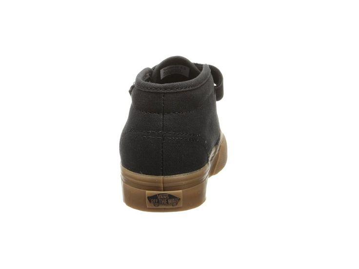 Vans Kids Chukka V (Toddler) Boys Shoes Black/Gum