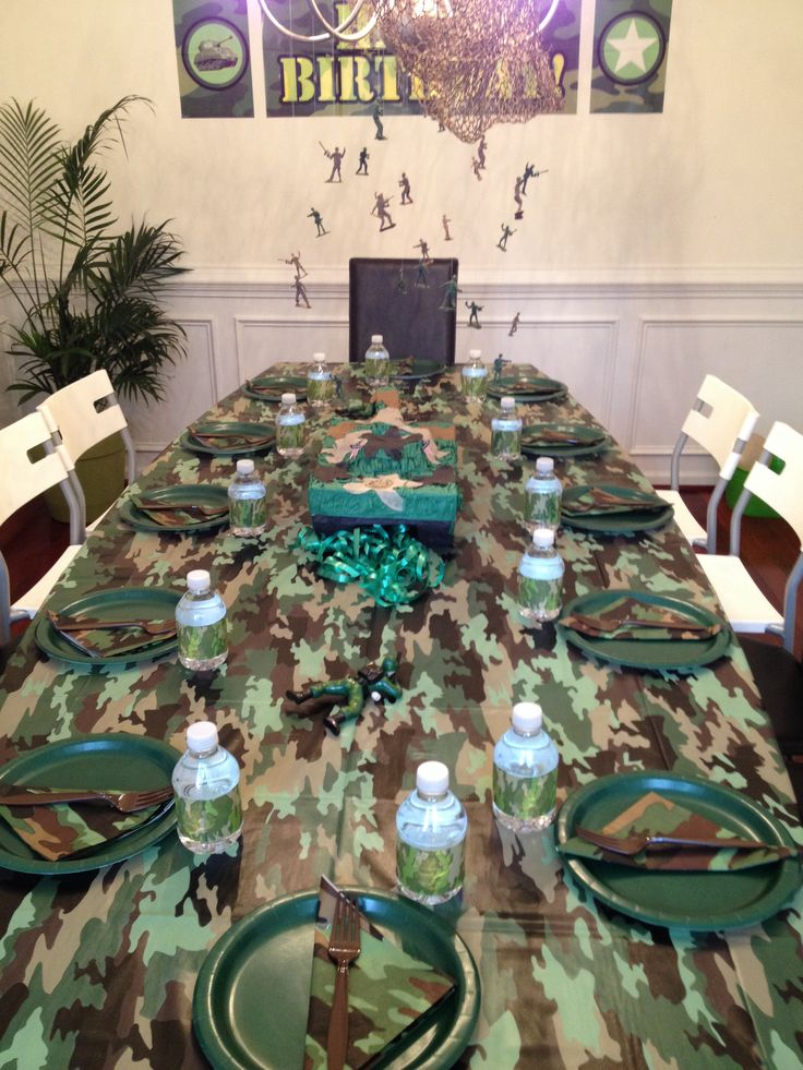 79 Best Army Birthday Party Images On Pinterest Birthday Party Ideas Military Party And Camo