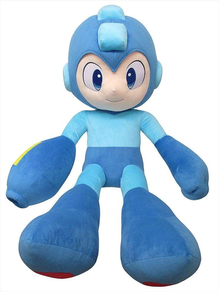 Mega Man Rockman Oversized 30th Anniversary Limited Life SIZE Plush Doll Japan