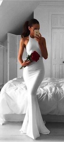 2017 prom dresses, long prom dresses, mermaid prom dresses, 2017 mermaid long white bridesmaid dress