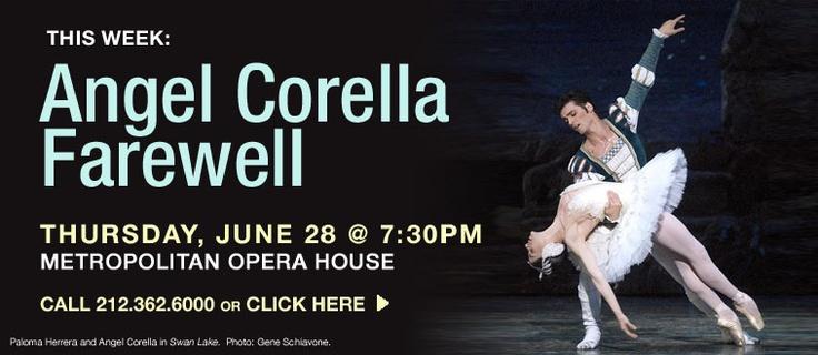 American Ballet Theatre: ANGEL CORELLA     Final Performances - Swan Lake, June 25-30 2012
