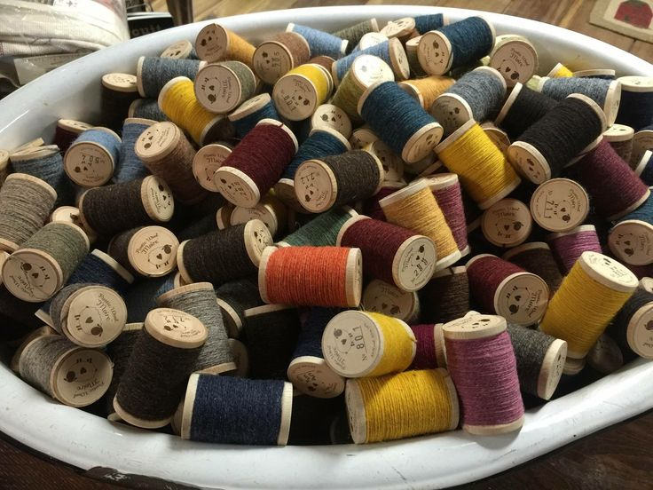 Wool thread from Old Tattered Flag for use with wool sewing projects