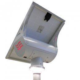 Western Streetlighting Kit Globe Weiss 30W Kit für Strassenbeleuchtung mit 30W LED Leuchte, 100wp Photovoltaik Modul, Infratrot Sensor (IR Sensor) - ohne Mast