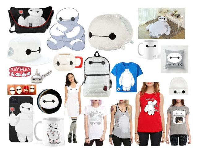 """""""BAYMAX BIG HERO 6"""" by park-ji-eun ❤ liked on Polyvore featuring Disney, Hot Topic and Metal Mixology"""