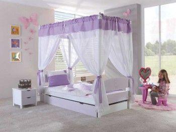 Buková postel s nebesy Wendy 20