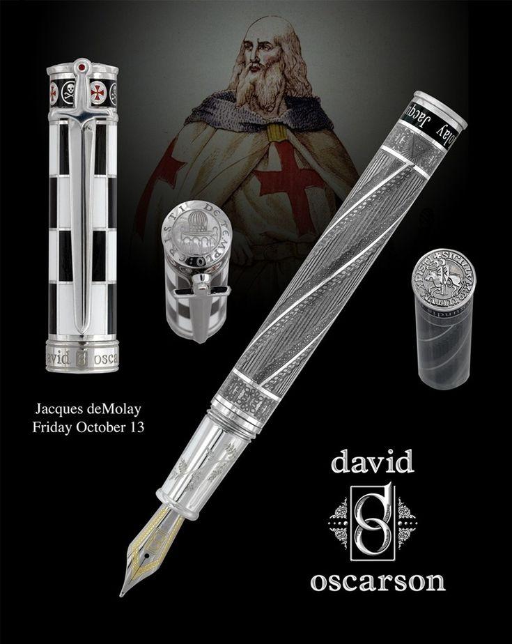 #FountainPen  David Oscarson - exclusive collection made on order _Jacques deMolay