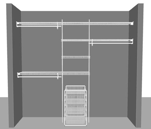 find your ideal wardrobe solution with closetmaid wire shelving systems purchase as a complete closet package get free design ideas or diy