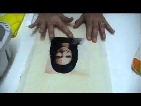 Transferência de fotos para tecidos