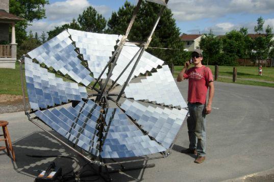 Lorin Symington, solar array, solar power, solar cooker, solar energy