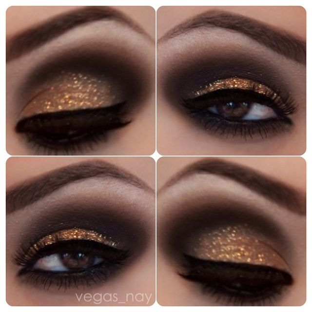 Metallic Copper  Brown Smokey Eye Makeup.#Repin By:Pinterest++ for iPad#