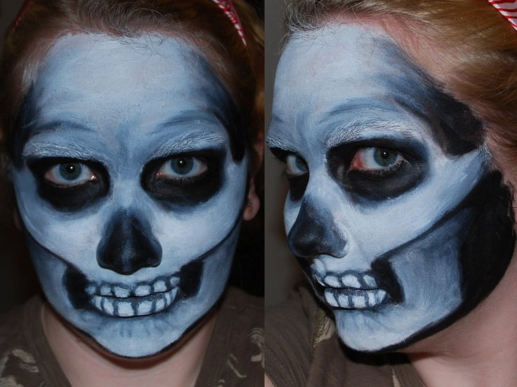 skull face paint ii by foxkatdeviantartcom - Halloween Skull Face Paint Ideas