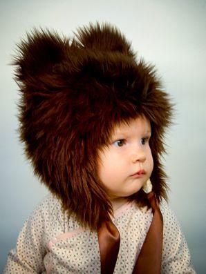 So cute! @Lauren da Silva For you and Mandy! x: Bears Hats, Teddy Bears, Bears Cubs, Kids Fashion, Cute Hats, Fuzzy Wuzzy, Baby Hats, Fur Hats, Baby Bears
