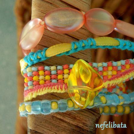 Life is a Carnival ° boho ° boho chic ° boheme ° hippies ° gypsy ° ethno ° jewelry ° freedom ° joy ° handmade  ° bracelet ° multistrand