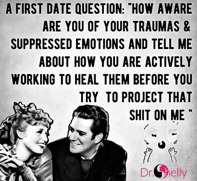Risultati immagini per A first date question: How aware are you of your traumas and suppressed photo