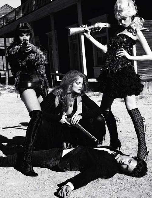 crystal black chicago pussy - 'Pussy West' ~ Abbey Lee Kershaw, Crystal Renn, Eniko Mihalik, Danny  Schwarz & Joost Van Der Hulst by Terry Richardson for Vogue Paris, December  2010 ...