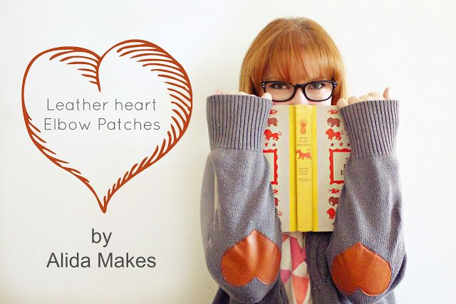 Leather Heart Elbow Patch- my favorite cashmere sweater needs some tlc and this is perfect!