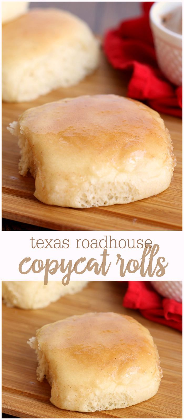 Texas Roadhouse Copycat Rolls with Cinnamon Butter - so soft they melt in your mouth!! { lilluna.com }