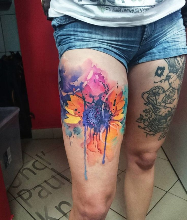 Best 25 Inner Thigh Tattoos Ideas On Pinterest: 25+ Best Ideas About Thigh Tattoo Watercolor On Pinterest