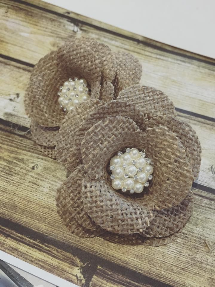 Rustic cake toppers , complete with pearls!