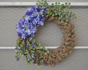 Primavera corona di ortensie viola primavera di countryprim