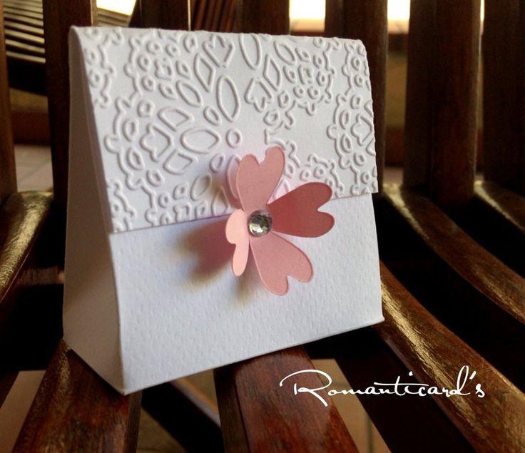 Boomboniera porta confetti con fiore by Romanticards , by Romanticards e Little Rose Handmade, 0,90 € su misshobby.com