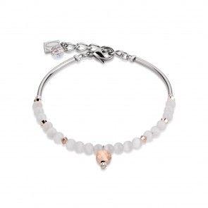 Coeur De Lion Bracelet Drops White Silver