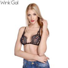 Wink Gal женский кружевной бюстгальтер ультратонкий бюстгальтер с бретелями сексуальное нижнее бельё для женщин черный лифчик(China (Mainland))
