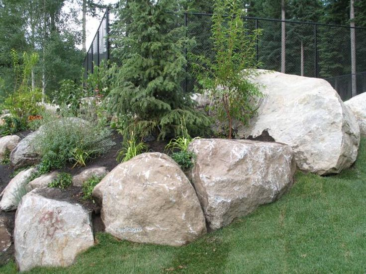 Landscaping with boulders, trees, small drought-tolerant plants. - 45 Best Rocks And Boulders. Images On Pinterest House Landscape