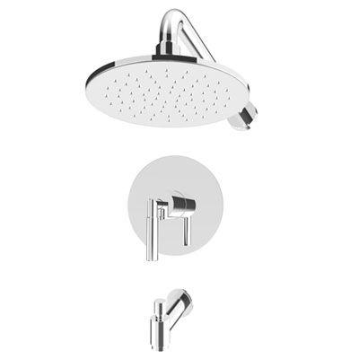 Rubi Dana Pressure Balanced Tub & Shower // Includes tub spout, rough-in valve, trim and railhead