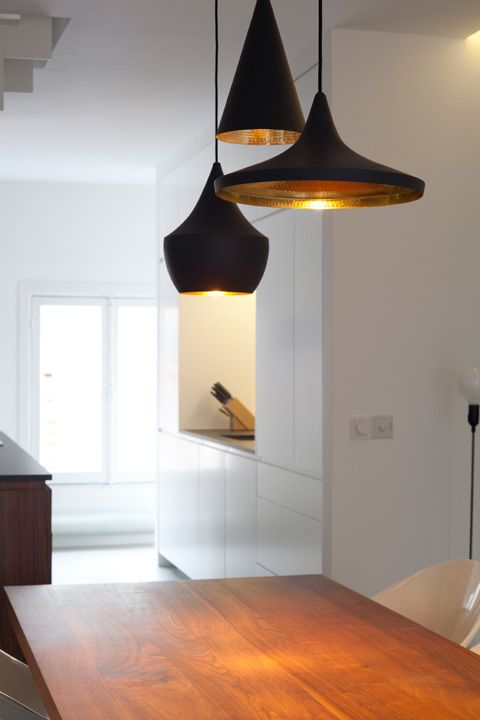 Design by Dutch architect Laura Álvarez. I like that they these llights shar a common aesthetic but vary formally.: